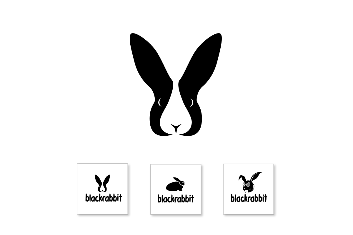 blackrabbit logo design top image