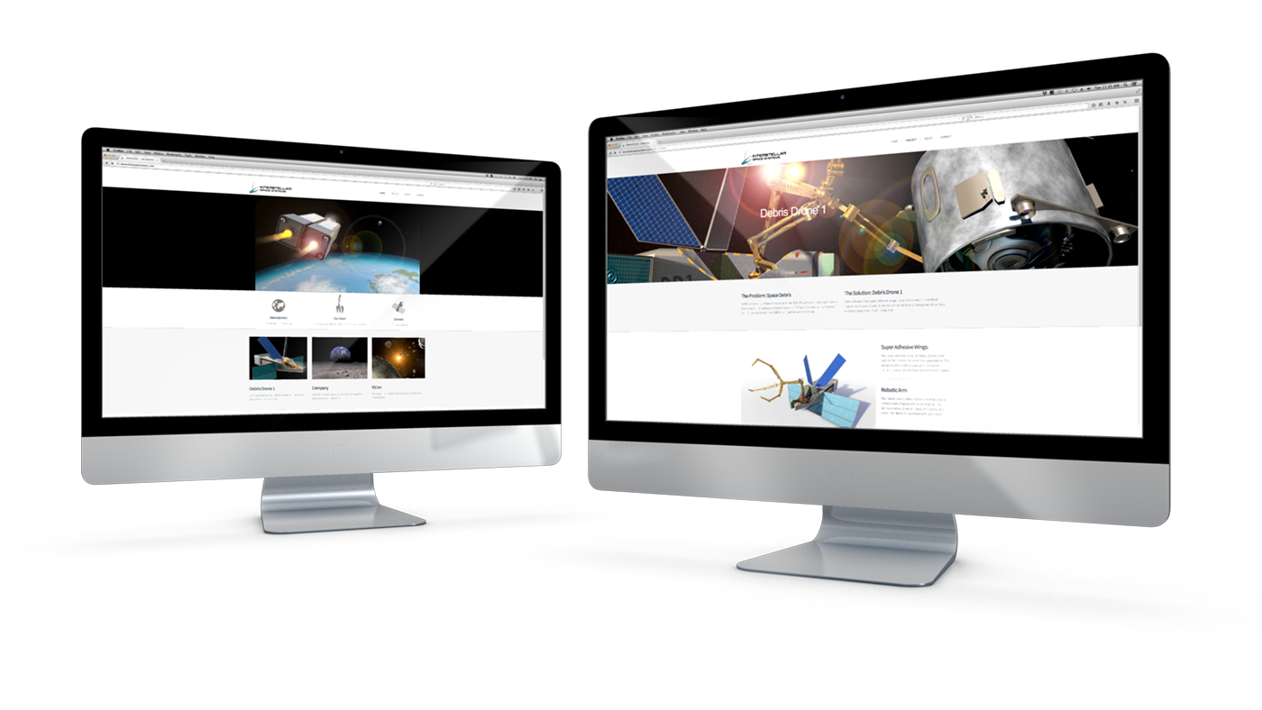 Interstellar Space Systems Website Design