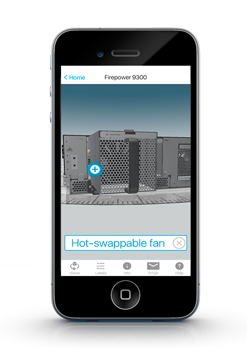 Cisco WebGL Mobile App 9300 Fans