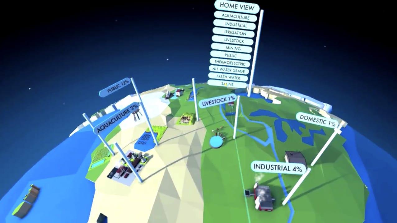 WaterUse VR App UI Navigation