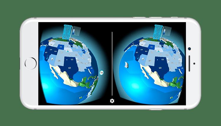 WaterUse VR App Global Navigation UI