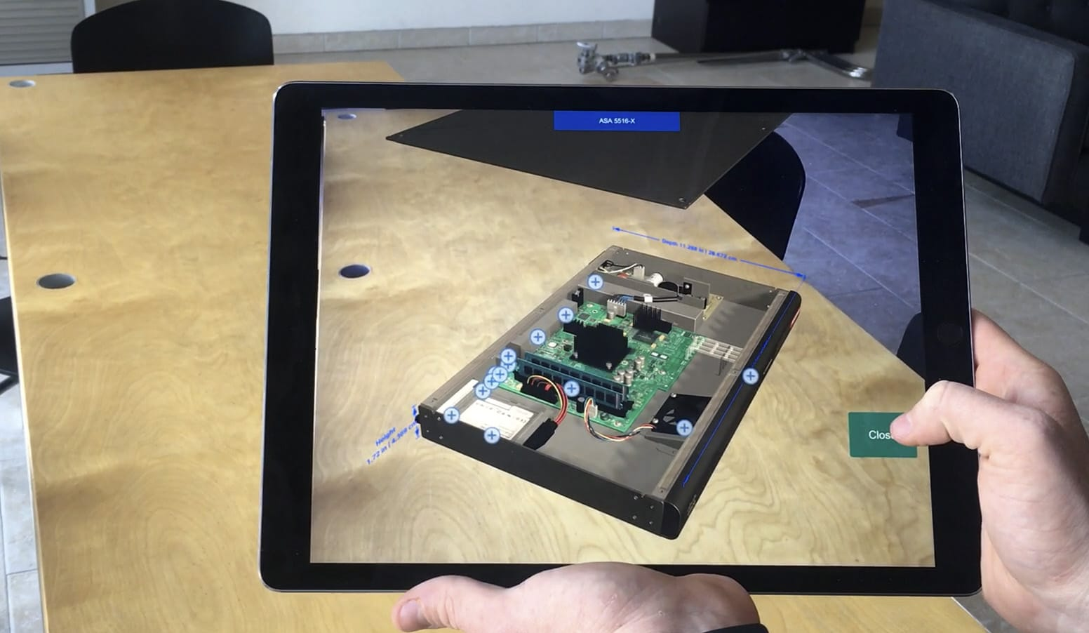 Cisco AR App Open Lid View