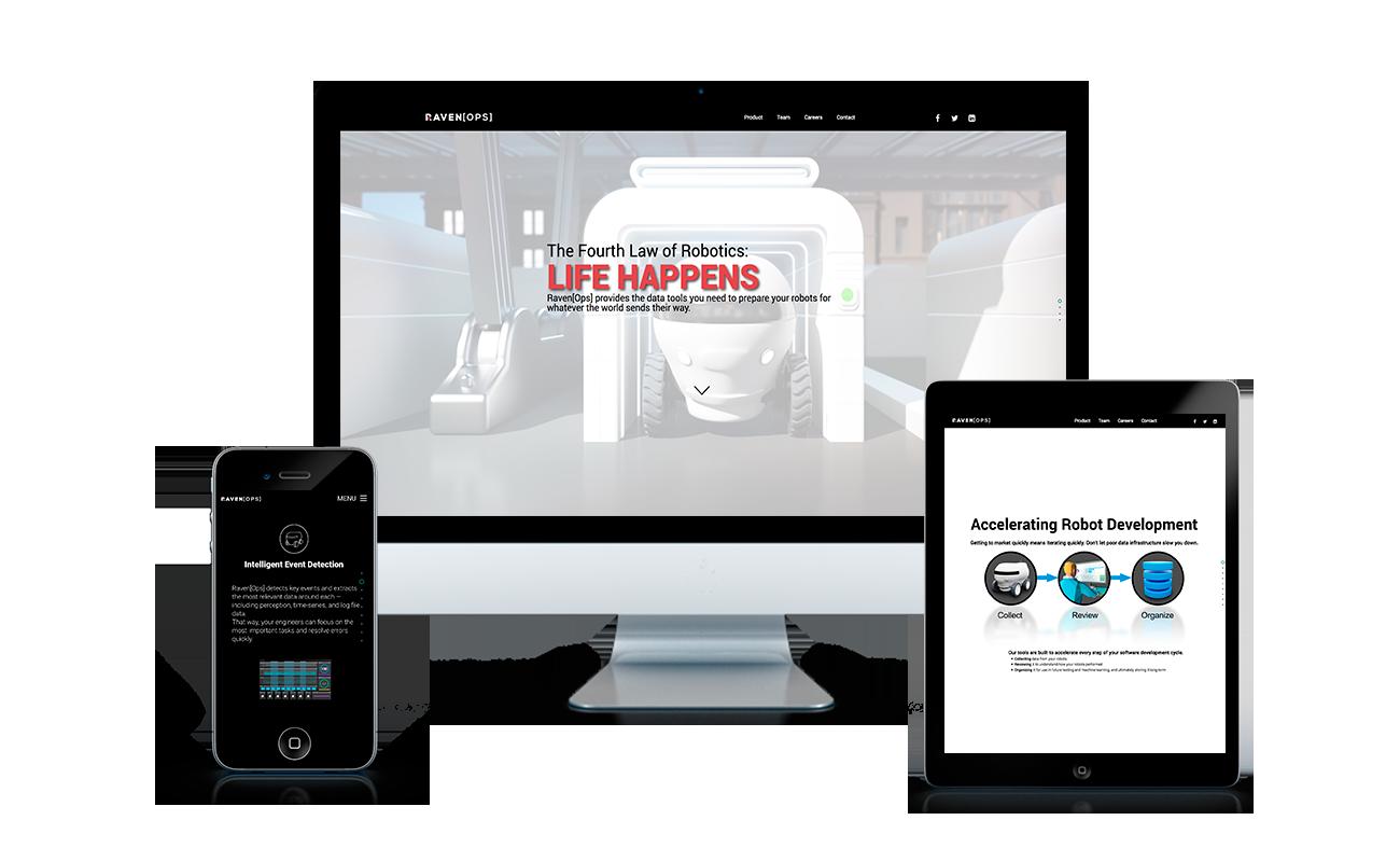 RavenOps Website Design